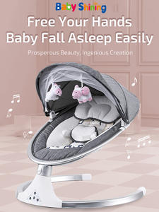 Baby Bouncer Chair Belt Remote-Control Calm Bluetooth Newborn Electric Smart with Crib