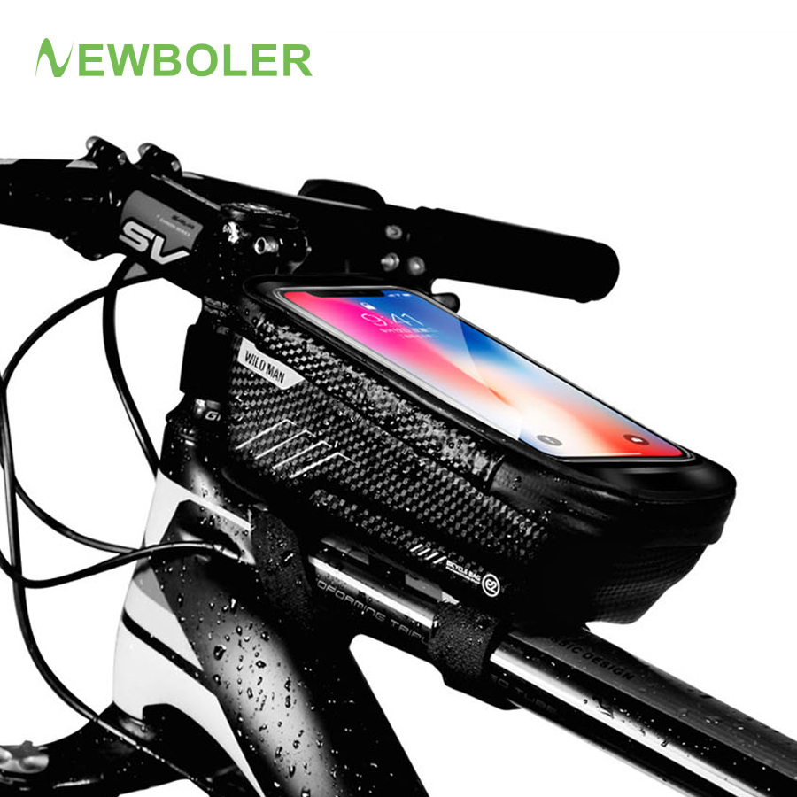 MTB Mountain Bike Frame Front Bag Pannier Bicycle Mobile Phone Holder Case