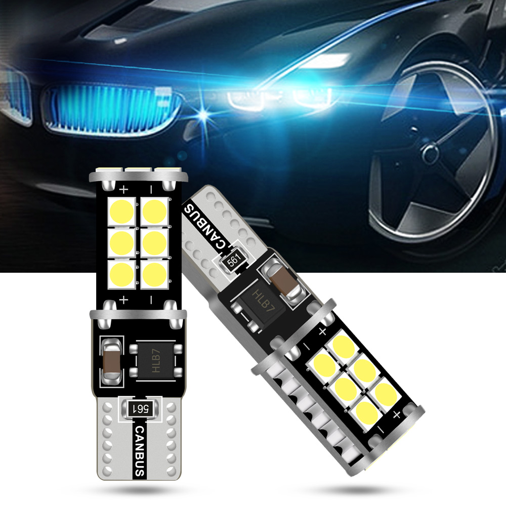 2 x T10 6SMD LED NUMBER PLATE SIDELIGHT INTERIOR W5W 501 6000K MERCEDES HYUNDAI