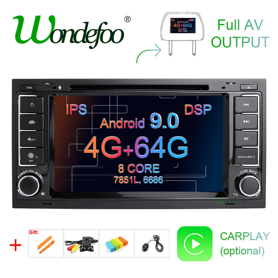IPS DSP Android 9.0 4G 64G CAR GPS For VW Volkswagen Touareg T5 Transporter Multivan dvd player radio multimedia navigation PC