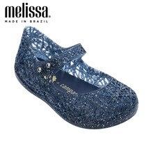 Mini melissa 2020 nova princesa net pássaro sapatos sandálias oco mini melissa jelly sandálias melissa bebê antiderrapante jelly sapatos