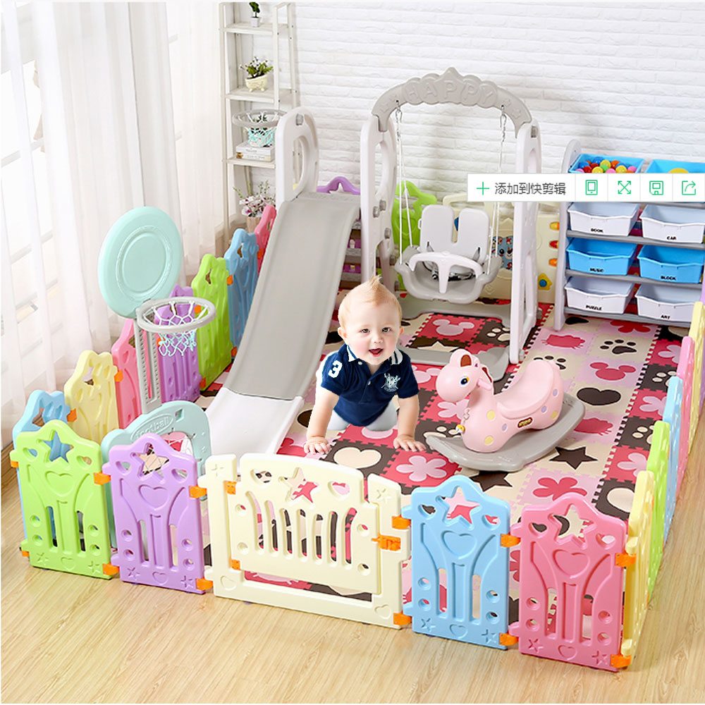Indoor Baby Playpens Outdoor Games Fencing Children Play Fence Kids Activity Gear HDPE Environmental Protection Safety Play Yard