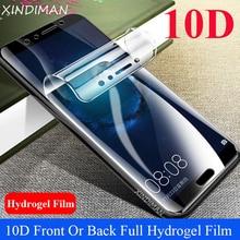 XINDIMAN 10D Full Hydrogel Film for Huawei Nova2 2s Front+Back Soft screen protector huawei Nova2plus Scratch Proof