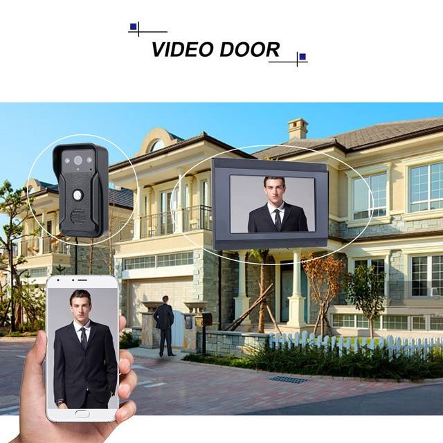 1080P 7 inç WIFI görüntülü kapı telefonu interkom sistemi su geçirmez kapı zili kamera APP kontrolü uzaktan kilidini ev daire için