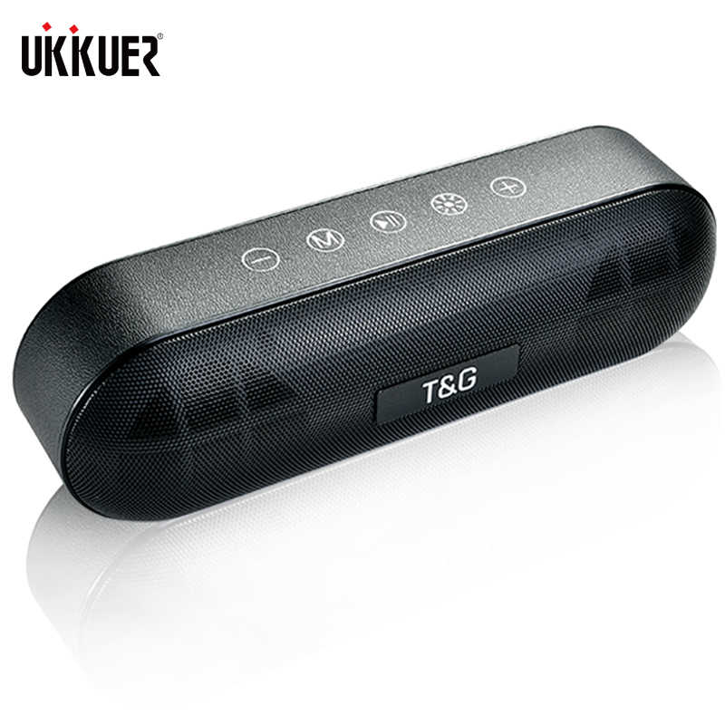 TG LED Outdoor Bluetooth Speaker Logam Portabel Super Bass Wireless Loudspeaker 3D Musik Stereo Surround dengan MIC FM TF Kartu AUX