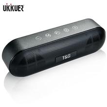 TG Led Bluetooth Loa Ngoài Trời Kim Loại Di Động Siêu Bass Không Dây Loa 3D Nhạc Stereo Vòm Có Mic FM TFCard AUX