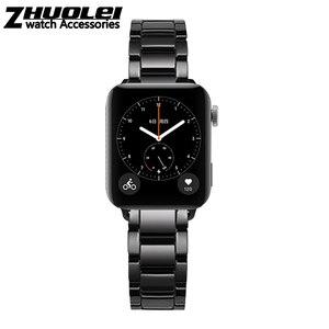 Image 5 - Seramik watchband için GT2 GT kayış glory sihirli rüya metal seramik akıllı spor saat watch2 Pro bilezik 42/ 46m