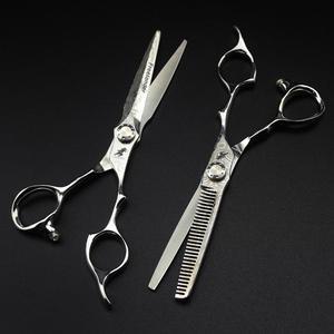 Image 5 - 6 inç satış japonya saç makas teflon makası şam kuaförlük makas kuaför İnceltme makas kuaför jilet saç kesimi