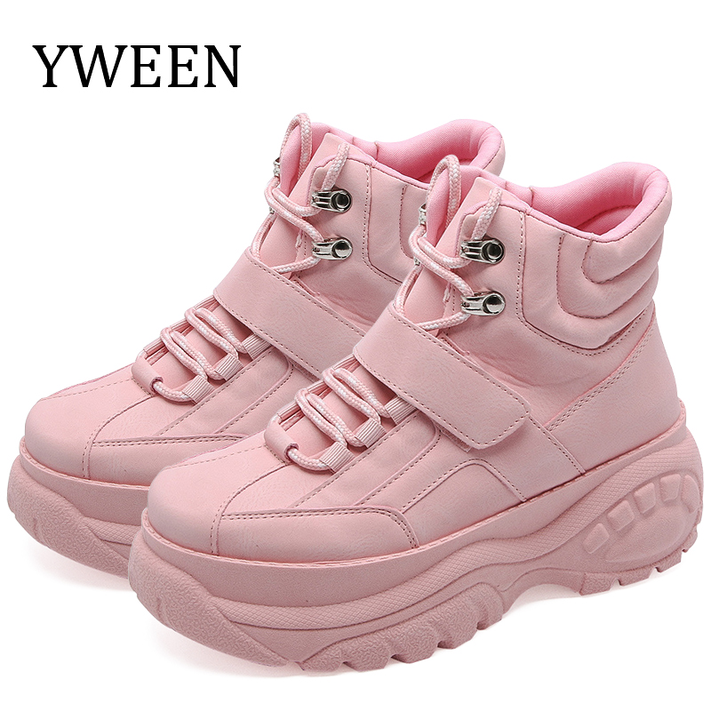 YWEEN 2019 Women Casual Shoes Breathable Female Fashion Sneakers Women Lace Up Increasing Girls Shoes Chaussures Femme Trainers