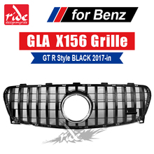Fits For MercedesMB X156 grille GT R style Black Sports GLA-Class GLA220 GLA250 GLA45AMG look Front grills without sign 2017-in