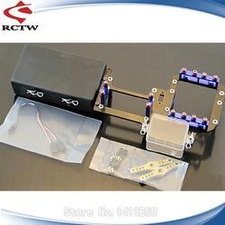 Carbon Fiber Dual Servo Tray Kit for 1/5 GTB Racing Losi 5ive T Rofun Rovan LT Kingmotor X2 RC Rc Car Parts