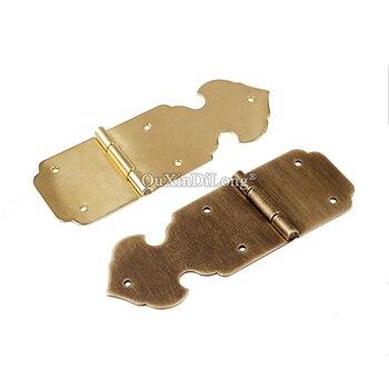 Retro Vintage 10PCS European Antique Brass Jewelry Box Hinges Drawer Cabinet Wooden Boxes Hinges Furniture Hinges Q978