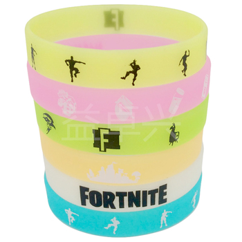 Luminous Silicone Bracelet Fortnite Rubber Trend Adult Toys Figure Model Pattern Kid Birthday Toy Gift 2