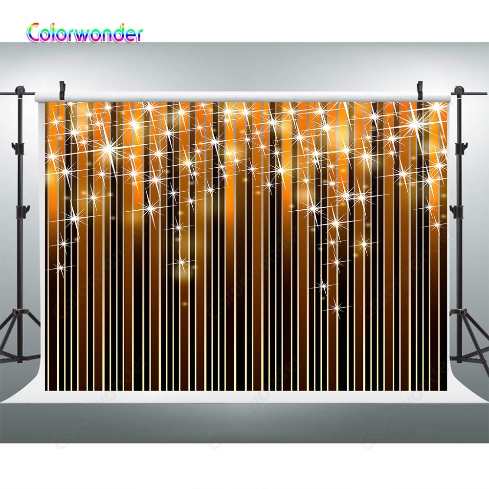 Orange And Black Gradient Ramp Vertical Stripes Photography Backdrop Glitter Stars Artistic Photo Bacground Photobooth Banner Background Aliexpress