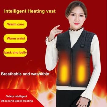 Unisex Outdoor USB ładowanie kamizelka grzewcza ogrzewanie na podczerwień kamizelka elastyczna elektryczna termiczna zimowa ciepła kurtka odzież sportowa tanie i dobre opinie Faddare WOMEN 300D polyester pongee Poliester Termiczne