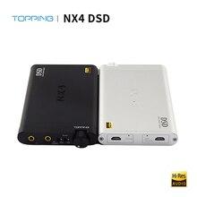 TOPPING NX4 DSD Hifi DAC Amplificatore Per Cuffie Audio ES9038Q2M XMOS XU208 USB DAC Amplificatori Per Cuffie Amplificatore Portatile