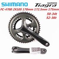 Shimano Tiagra 4700 10 מהירות 165mm/170mm/172.5mm/175mm 50 34T 52 36T Crankset כביש אופני אופניים Crank עם RS500 סוגר תחתון-בהנעת אופניים ושרשרת גלגלים מתוך ספורט ובידור באתר