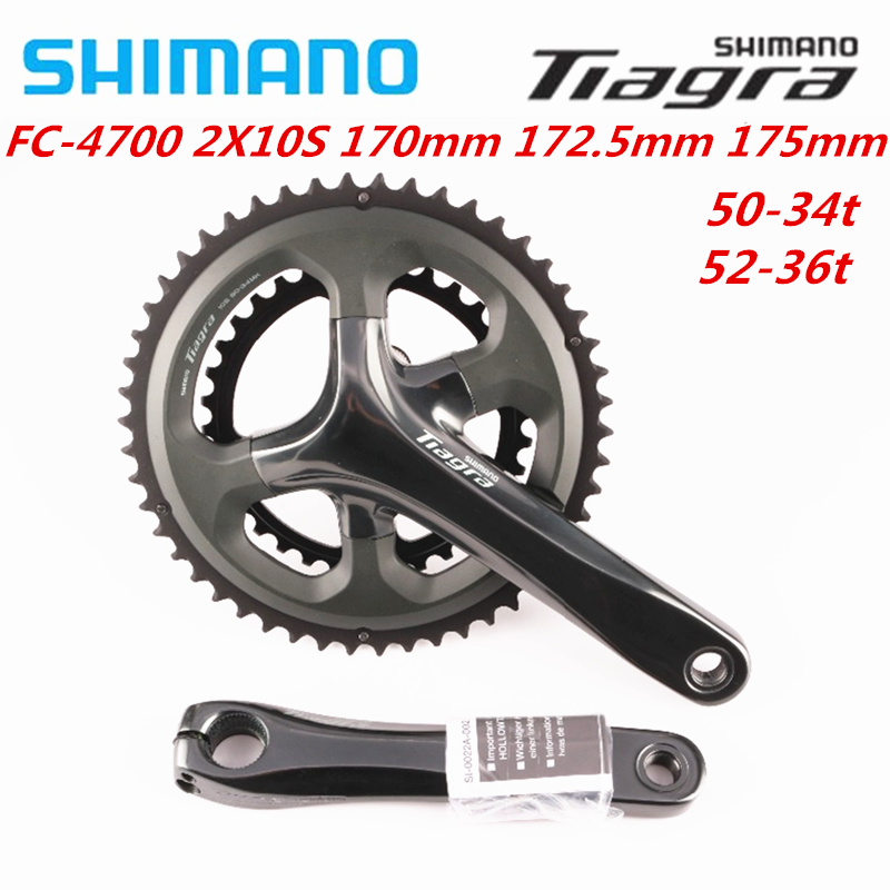 Shimano Tiagra 4700 4703 10 Speed 165mm/170mm/172.5mm/175mm 50-34T 52-36T 50-39-30T Crankset Road Bike Bicycle Crank With RS500