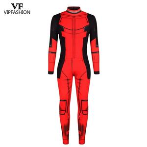 Image 2 - Vip moda nova deadpool cosplay trajes para homens macacão muscular cosplay super herói superman impresso quadrinhos zentai trajes
