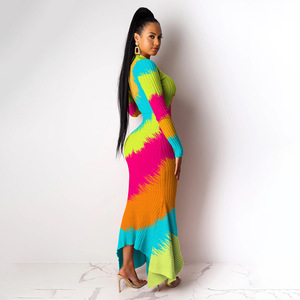 Image 3 - African Dresses For Women Elegent Fashion Style African Women Plus Size Polyester Long Maxi Dress