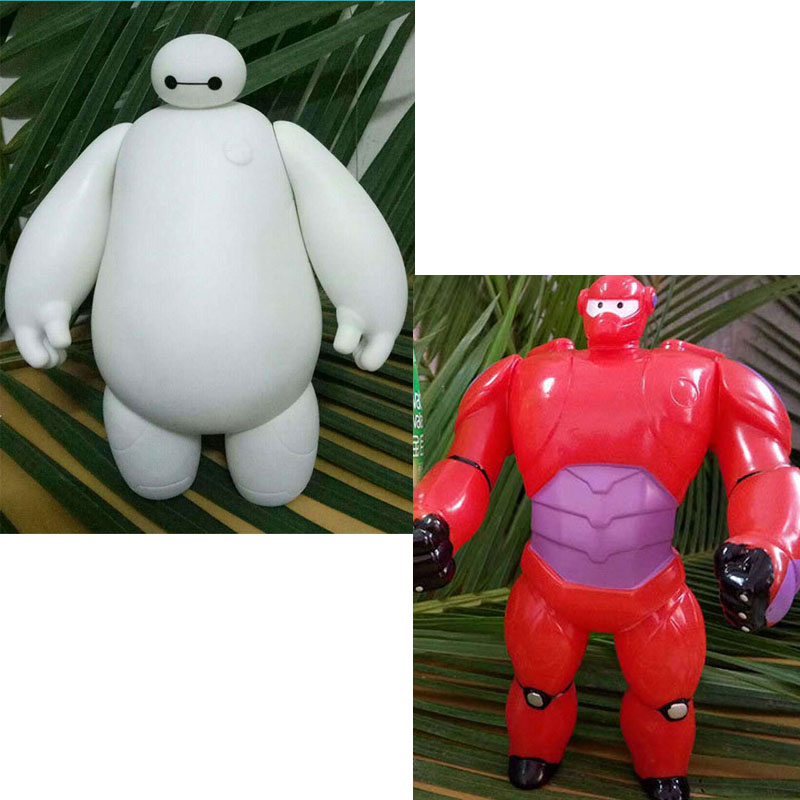 Big Hero 6 Baymax Kawaii Cute Robot 20cm Hands Can Move Action Figure Toys
