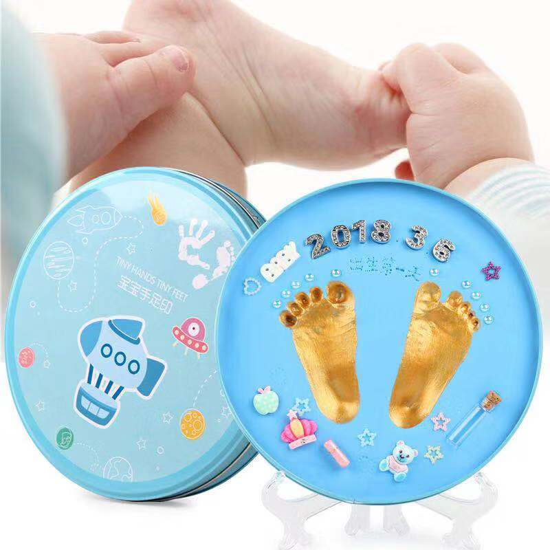 Baby Handprint Footprint Mud Children Kids Gift Non-toxic And Odorless For 0-3 Years Old