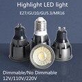 Super Bright Dimmable GU10 / GU5.3 / E27 / MR16 COB 9W 12W 15W LED Bulb Lamp 85-265V 12V Spotlight Warm White / Cold White LED L
