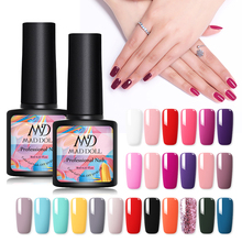 MAD DOLL 8ML 60 Colors Gel Nail Polish Pink Red Green Pure Color Soak Off UV Varnish Manicure Lacquer
