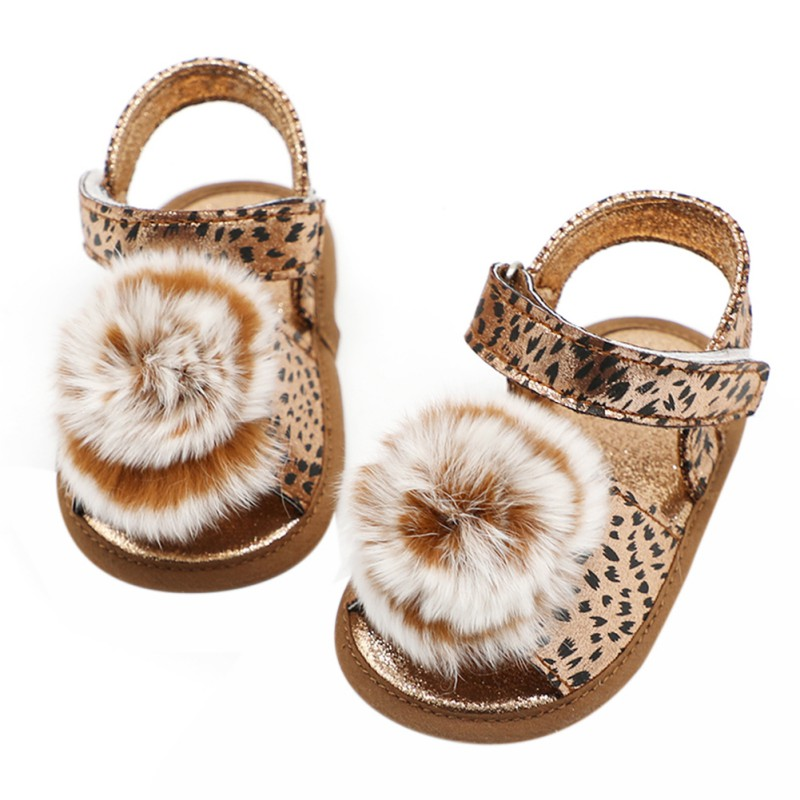 Cute Summer Infant Baby Girl Princess Sandals Casual Shoes Print Soft-Soled Shoes First Walkers 0-18M Newborn Gifts
