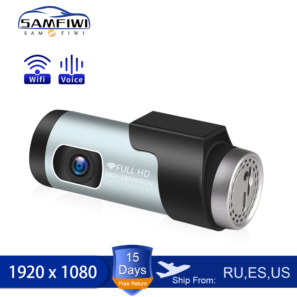 Car DVR Dash Camera APP & English Voice Control 1080P HD Night Vision Video Recorder Auto Registrator Dvrs Wifi Dash Cam