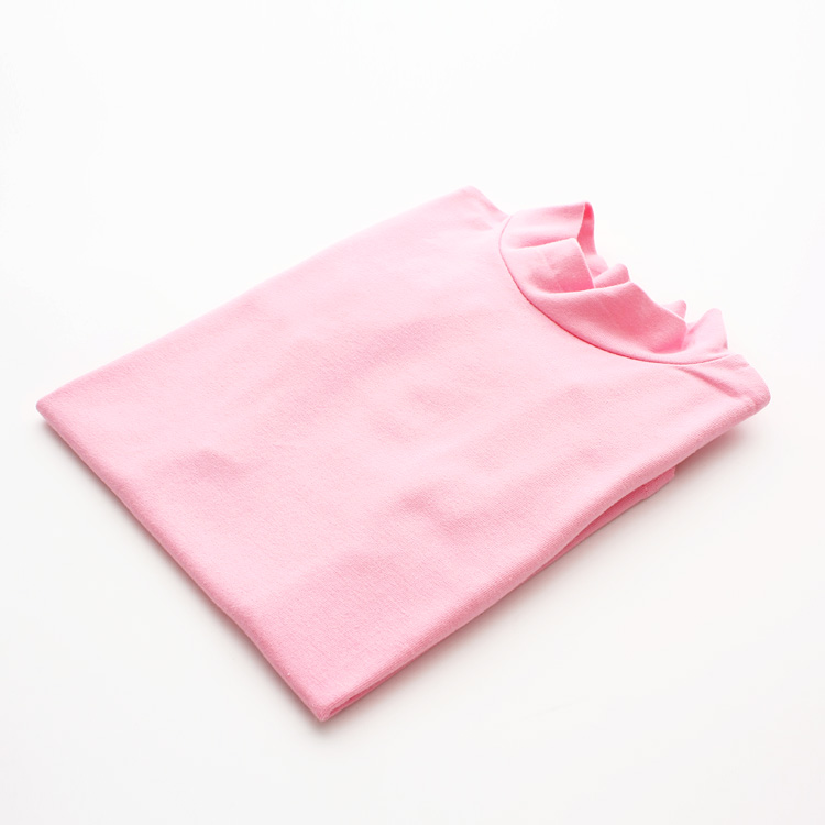 100% Cotton Autumn Girls Basic Shirts Winter Turtleneck Collar T Shirt for 2-11 Years Candy Color Baby Girl Long Sleeve Clothes 5