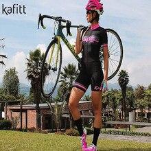 Kafitt pro sommer dame kurzarm insgesamt triathlon rennen anzug trisuit pro team lycra stoff schnell trocken sportswear skinsuit