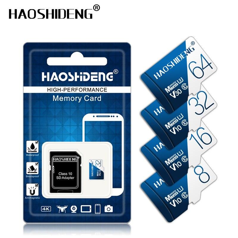Высококачественная карта памяти Micro SD 32 Гб 64 Гб 128 ГБ флеш-карта cartao de memoria TF карта 16 ГБ 8 ГБ 4 ГБ Подарочный адаптер Бесплатная доставка