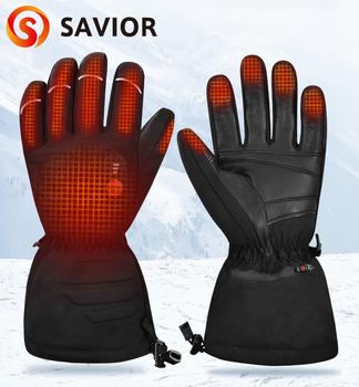 Sunwill Ski do ogrzewania rękawiczek bateria elektryczna akumulator ogrzewanie rękawice narciarskie motocykl kolarstwo do ogrzewania rękawiczek mężczyźni kobiety Sw08 tanie i dobre opinie Savior Heat CN (pochodzenie) SHGS 09B Bawełna Skóra Pu heating carbon fiber 3-6 hours 7 4V 2000MAh 8 4V 1A
