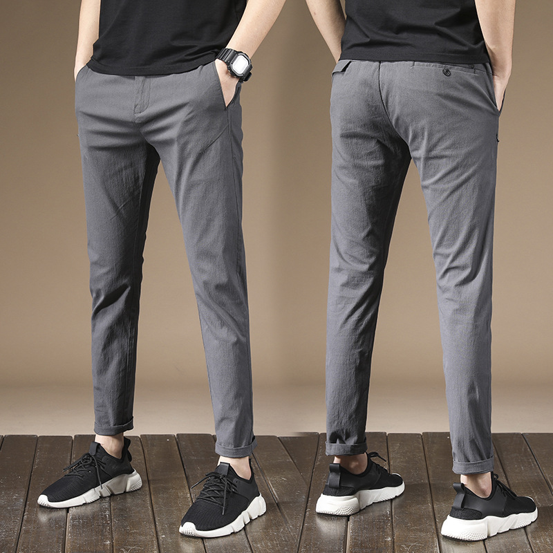 2018 Autumn And Winter New Style Multi-color Men's Slim Fit Pencil Pants Casual Pants Youth Medium Waist Men Versatile Casual Pa