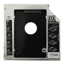 "Venda quente universal alumínio 12.7mm sata 2.0 2nd hdd caddy 2.5 ""hdd caso ssd gabinete para notebook 12.7mm odd DVD-ROM optibay(China)"
