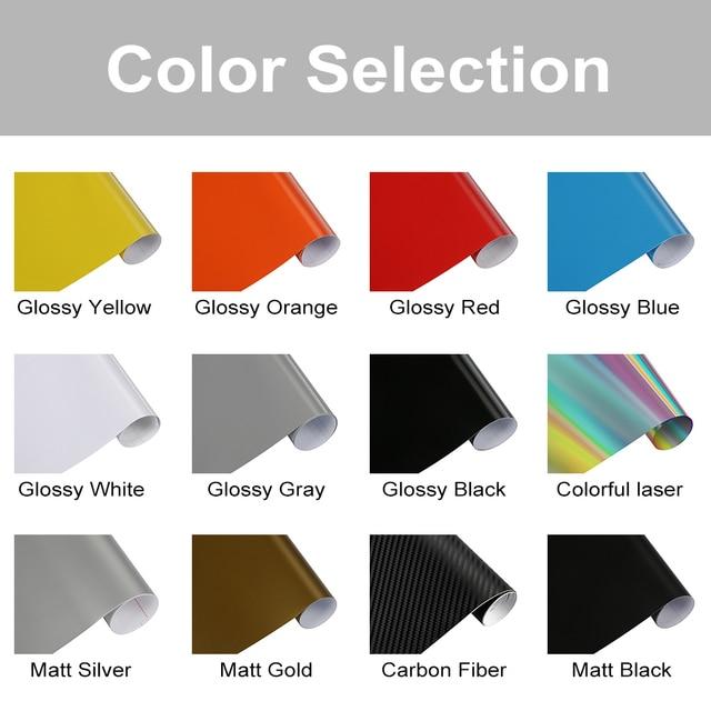 2pcs Car Side Skirt Sticker Long Stripe Auto Vinyl Film Wrap Stickers Tuning Universal Shelter Scratches