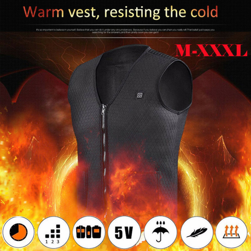 Creative Men Women Vest Heated Cloth Autumn Winter Cool Clothes Warm Jacket USB Electric Thermal Warm Winter Body Warmer Tops