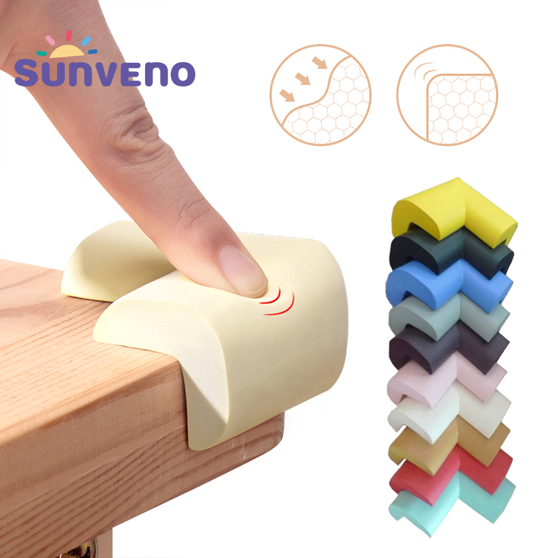 8pcs/set Sunveno Baby Safety Corner Protector Furniture Corners Angle Protection Child Safety Tape Edge Corner Guards