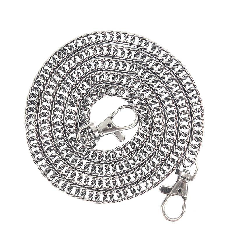 100cm DIY Gold, Silber, Schwarz, Bronze Metall Ersatz Kette Schulter Taschen Riemen für Handtaschen, geldbörse Griffe