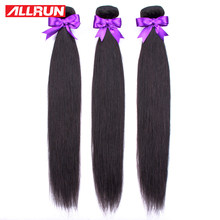 ALLRUN 1/3/4 Bundles Deal Malaysia Hair Weave Straight Human Hair Bundles Natural Color Hair Extension non remy Hair Weaves(China)