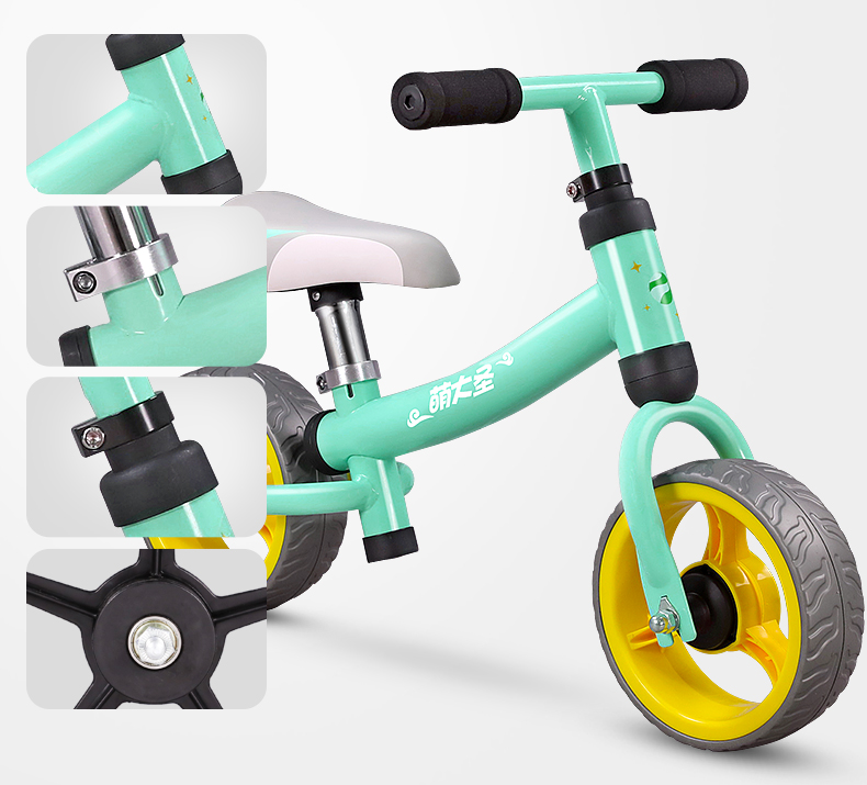 Hce905621056f46a88b923f81bd449065H Montasen Children  Push Bike  for 1.5- 3 Year Old Kids High Carbon Frame Balance Cycle for Boy Girls to Walk  Mini Push Bicycle