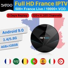 DATOO IPTV France Italy Portugal Turkey Spain IP TV Box HK1 MINI+ Android 9.0 4G+128G BT Dual-Band WIFI IPTV France Arabic Italy iptv france arabic italy code datoo hk1 mini android 9 0 bt dual band wifi 1 year iptv france arabic spain portugal set top box