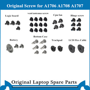 Original bottom Case Screw for Macbook Pro Retina A1706 A1708 A1707 Fan Speaker Logic board HInges Trackpad Screw