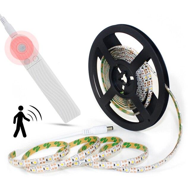 DC5V 1M 2M 3M PIR Motion Sensor Led leuchten Für Küche LED Unter Kabinett Licht Nacht Treppen kleiderschrank Nacht Sicherheit Lampe A1
