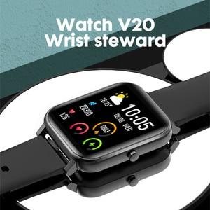 Image 5 - 2019 전자 풀 터치 여성 남성 스마트 시계 심장 박동 블루투스 방수 시계 스포츠 Smartwatch for IOS Android