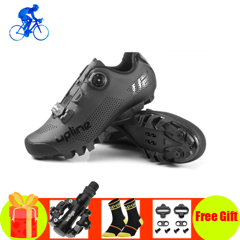 Cycling Shoes Men Sapatilha Ciclismo Mtb SPD Pedals Mountain Bike Sneakers Breathable Self-locking Superstar Spinning Bike Shoes