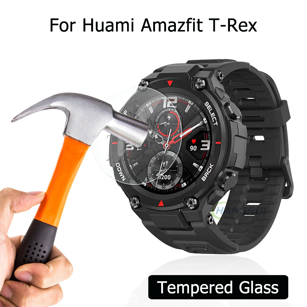 For Huami Amazfit T-Rex Tempered Glass For Amazfit T Rex Screen Protector Film Waterproof Smart Watch Protective Accessories