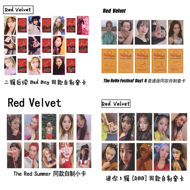 Kpop Red Velvet Photocard High Quality HD Picture Album RedVelvet Kpop Red Velvet Photo Card New Arrivals Poster Photocards