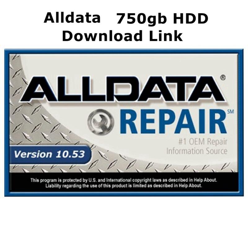 Todos os dados software de reparação automática alldata 10.53 para carros e caminhões em 750gb hdd/download link suporte técnico via teamviewer